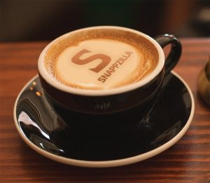Coffee & Swiping mug by Nik