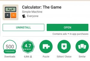 Calculator The Game 500k Google Play